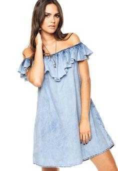 Denim Fashion, Boho Fashion, Girl Fashion, Womens Fashion, Fashion Design, Womens Denim Dress, Blue Denim Dress, Casual Dresses, Short Dresses