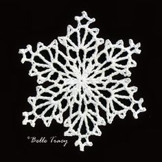 365 Crochet Snowflakes By Belle Tracy Free Crochet Snowflake Patterns, Crochet Stars, Christmas Crochet Patterns, Crochet Snowflakes, Doily Patterns, Thread Crochet, Crochet Motif, Crochet Crafts, Crochet Doilies