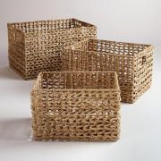 Seagrass V-Weave Baskets