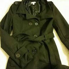Black Pea Coat Classic Black Waist Length Peacoat. Bongo brand, size Small. Fits snug. BONGO Jackets & Coats Pea Coats
