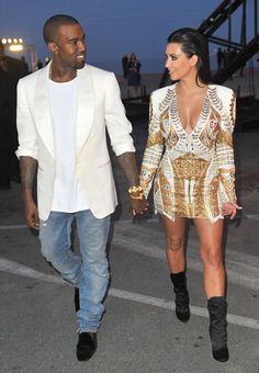Kim and Kanye. I love the way he looks at her and his interviews about her, you can tell how much he loves her!
