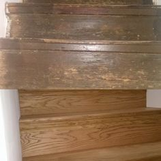 Before and after stair renovation. Clad in oak.
