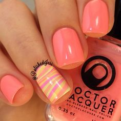Tri-color party nail :)