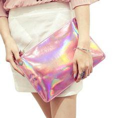 2017 Laser Women Clutch Bag Designer Envelope Clutches Handbags Fashion Pu Leather Evening Bag Female Embrayage Bolsas Feminina
