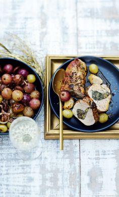 Rôtis de filets mignons farcis aux cèpes, poêlée de raisins et châtaignes - Testez notre recette gourmande de rôtis de filets mignons farcis aux cèpes, et poêlée de raisins et châtaignes... Un vrai régal pour toute la famille !