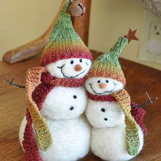 Felted snowmen