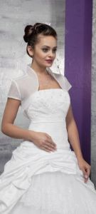 Short Sleeved Organza Bridal Bolero Wedding Bolero, Bridal Bolero, Organza Bridal, Pretty Shoes, One Shoulder Wedding Dress, Wedding Dresses, Sleeves, Fashion, Bride Dresses