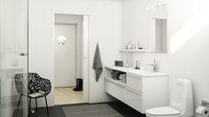 Nyt vaskeskab og opbevaring til badeværelse