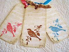 Prim Rose Hill Studio: Friday Flickr Inspirations: Handmade Gift Tags