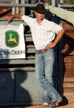John Deere and a cowboy:)