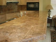 Tile Kitchen Countertop Refinshing After by DEMcoPros, via Flickr