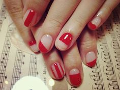 pink and red nail art