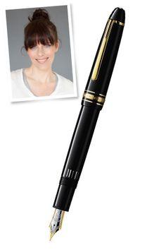 — Karen Walker, designer, Karen Walker    Montblanc Meisterstück Le Grand Fountain Pen