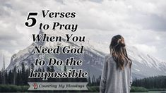 The Bible says, Nothing is impossible for God. These 5 prayers will help you pray when you need Him to do what only He can do in your impossible circumstances. Prayer Scriptures, Bible Prayers, Faith Prayer, God Prayer, Prayer Quotes, Bible Verses Quotes, Wisdom Quotes, Motivational Scriptures, Motivational Quotes
