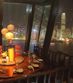 Hutong - Hong Kong. Dining with an amazing view