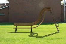 Street furniture is a great - and almost always missed - opportunity for thought-provoking public art & design. Bench Furniture, Urban Furniture, Street Furniture, Unique Furniture, Cheap Furniture, Garden Furniture, Furniture Design, Outdoor Furniture, Outdoor Decor