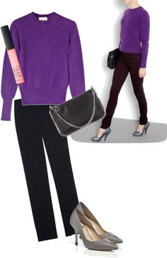 """""""Shall we wear purple"""" by chicatanyage on Polyvore"""