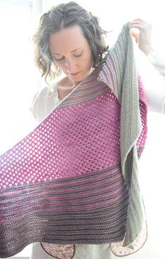 Interlude by Lisa Hannes | malabrigo Worsted in Chapel Stone, Polvoriento and Damask Rose