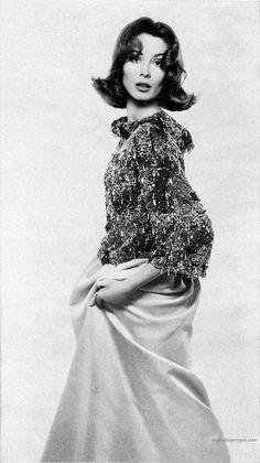 Suzy Parker wearing Givenchy. Harper's Bazaar, December 1961.  Photo by Richard Avedon