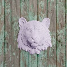 The+Mini+Siberian+in+Lavender++Faux+Tiger+Head+by+WallCharmers,+$29.97