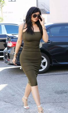 deep green bodycon dress