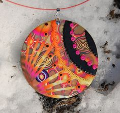 # Pendentif - Solar flare by Dumauvobleu, via Flickr  Great colors