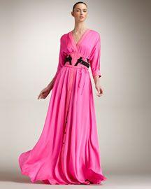 Bottega Veneta snap button gown