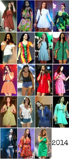 Lana Del Rey + American Tour 2014 outfits (pt.2) #LDR #fashion #style