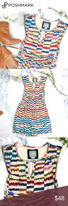 •Maeve• Wiggle Lines Dress Gently used Anthropologie Dresses