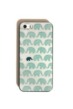 Baby and Mamma Elephant Soft iPhone 5s Case by trompo on Etsy