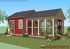 Chicken coop/garden shed combo: home garden plans: CB201 - Combo Plans - Chicken Coop Plans Construction + Garden Sheds Plans - Storage Sheds Plans Construction