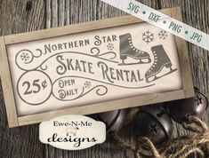 Skate Rental - SVG Christmas Svg, Christmas Projects, Holiday Crafts, Christmas Ideas, Christmas Decorations, Christmas Sayings, House Decorations, Christmas 2017, Outdoor Christmas