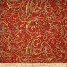 Swavelle/Mill Creek Niobi Paisley Jacquard Mandarin (May be too swirly or Paisley like)