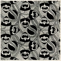 Koloman Moser, pattern Flächenmuster, from the magazine Ver Sacrum, 1899. Early op or pop art. Via University of Heidelberg      Thanks to design-is-fine