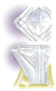 Professional Jeweler Archive: Setting Princess-Cut Diamonds in 'V' Prongs