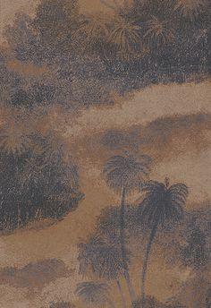 Cocos Blackcurrant/Terracotta wallpaper by Matthew Williamson