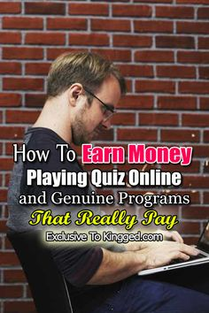 How To Earn Money Playing Quiz Online & 13 Genuine Programs That Pay Play Quiz, Earn Money Online, Extra Money, Personal Finance, Programming, Budgeting, How To Make Money, Knowledge, Debt