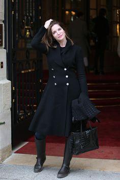 Stephanie Seymour in Paris