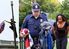 "On June 27, 2015, activist Bree Newsome acted on behalf of Americans who could not abide seeing the Confederate flag reverently displayed another day. Around the time she began climbing the flagpole at the South Carolina State House, Newsome arranged to have an email sent explaining her action: ""We removed the flag today because we can't wait any longer. We can't continue like this another day. It's time for a new chapter where we are sincere about dismantling white supremacy..."" Confederate Flag, Pop Culture Art, New Chapter, South Carolina, Climbing, How To Remove, June, Action, American"