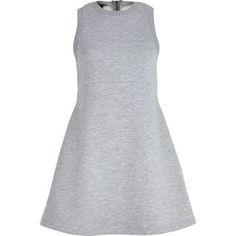 Grey marl jersey skater dress by: River Island
