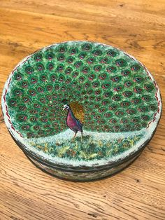 Stunning Vintage Peek Freans Biscuit Tin Peacock Design Collectors | eBay