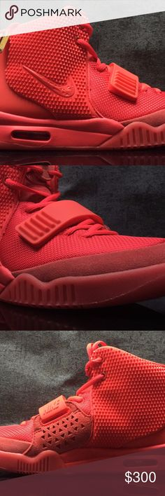 """Nike Air Yeezy 2 SP """"Red October"""" UA! NEW WITH BOX! 9~12 SHIPPING DAYS Nike Shoes Sneakers"""