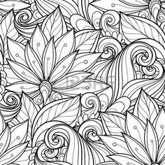 doodle roses coloring - Pesquisa Google