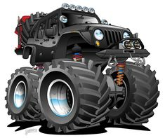 4x4 Off Road Jeep Cartoon by hobrath