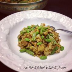 Italian Chicken Fried Brown Rice #SauteExpress #WeekdaySupper - In The Kitchen With KP Steamed Green Beans, Fried Brown Rice, Italian Chicken, 30 Minute Meals, Fried Chicken, Italian Recipes, Good Food, Yummy Food, Entrees