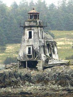 Grand Harbor Lighthouse on Fish Fluke Point, Canada                                                (rePinned 091413TLK)