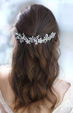 Bridal hair accessories Crystal Bridal headpiece Wedding hair