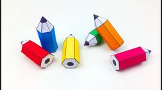 DIY, How to Make a Paper Pencil - Paper Crafts for Kids