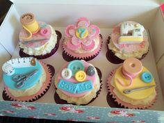 Sewing Machine Cupcakes
