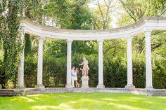 Mikkel Paige Photography photo of an Old Westbury Gardens wedding engagement session on Long Island.